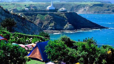 Reparada la webcam desde el Camping Los Cantiles en Luarca