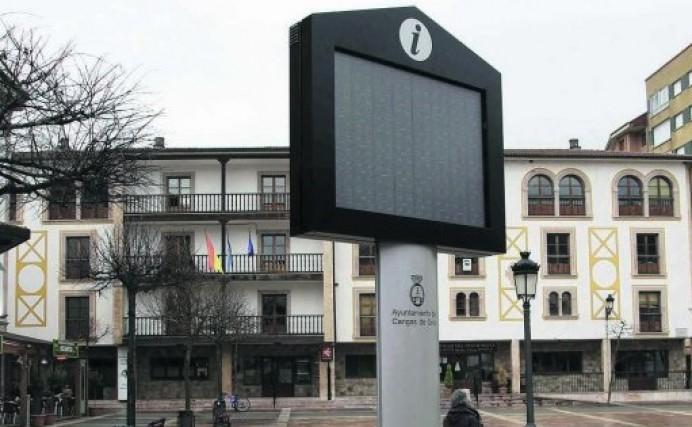 Cangas de Onís hace uso de las cams del concejo en su panel informativo