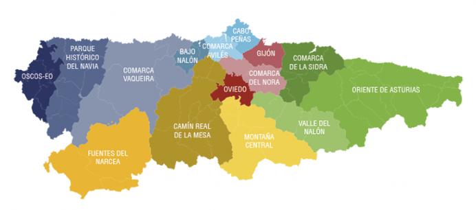¿Conoces las diferentes comarcas de Asturias?