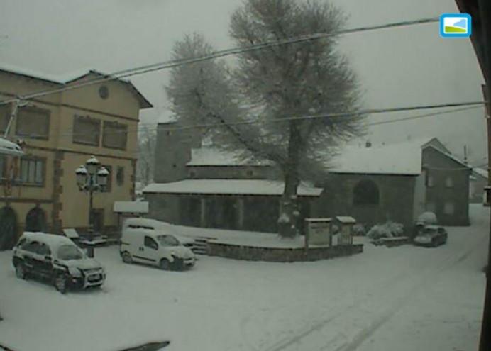 Primeras nieves del año en León