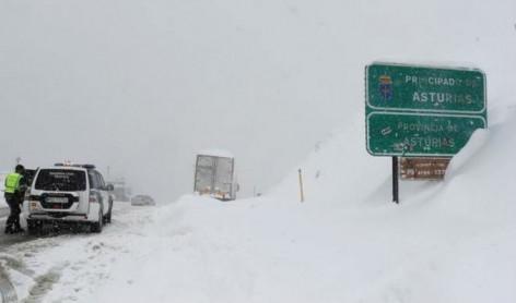 Aviso por fenómenos meteorológicos adversos por nieve en Asturias