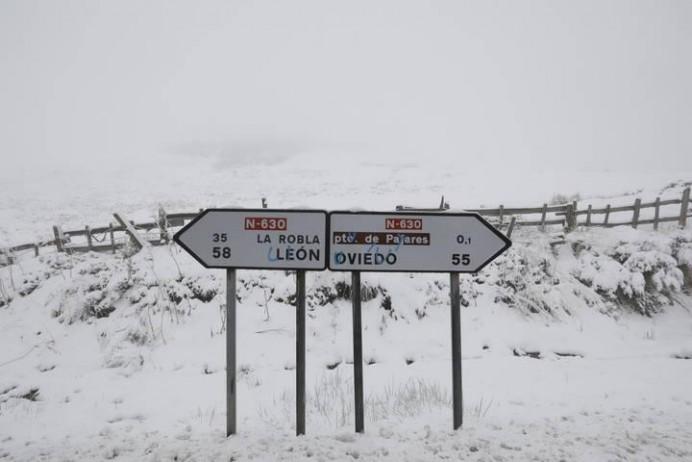 Se activa el nivel preemergencia el plan de nevadas en Asturias