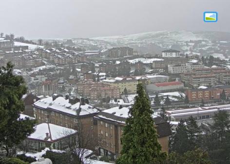 Dora nos abandona dejando tras su paso nieve y miles de visitas a Webcams de Asturias